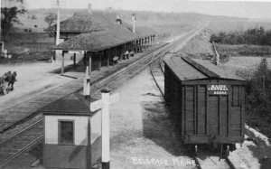 The Maine Central Railroad first came to Belgrade in 1849, allowing farmers to ship their products to market and making Belgrade's lakes a tourist destination.