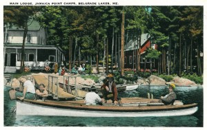 Jamaica Point Camps on Great Pond in its heyday as a tourist attraction.