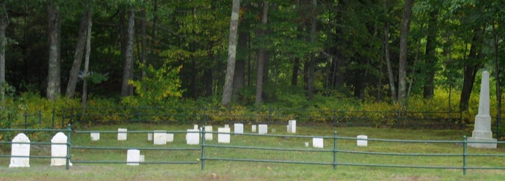 Quaker cemetery on Eleazer Burbank farm
