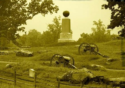 Monument at Gettysburg honoring the 5th Maine Battery