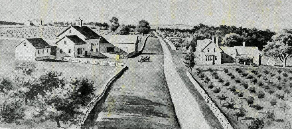 The Stevens' farm in Belgrade