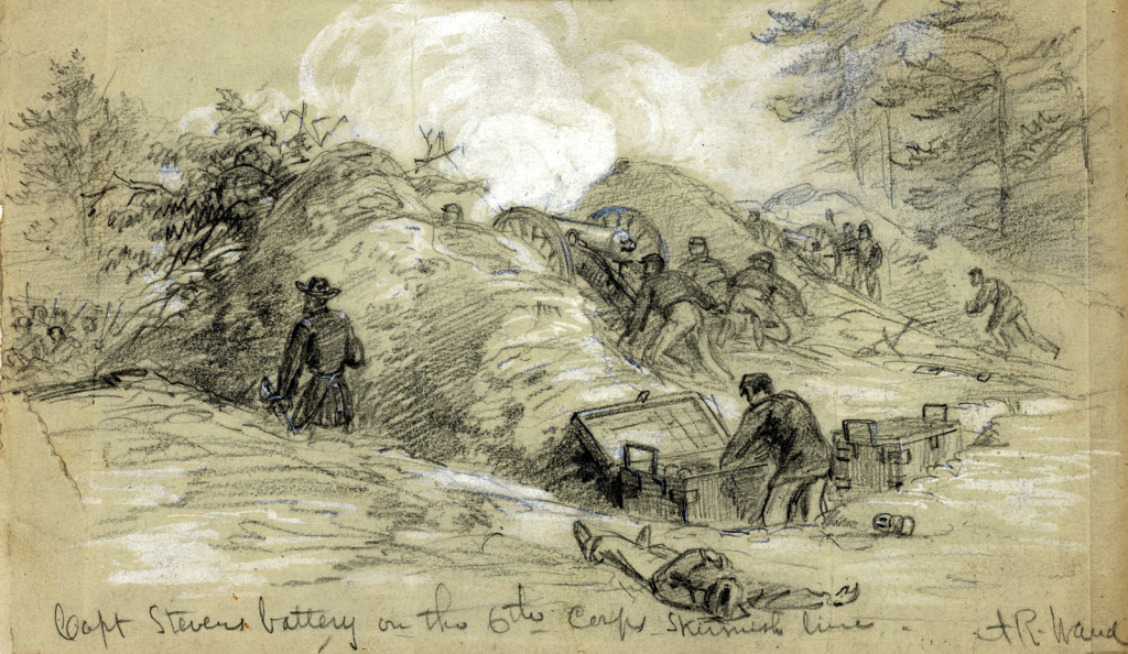 Capt. Stevens's Battery on the 6th Corps. skirmish line
