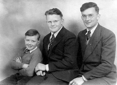 Paul & Anne Yeaton's three sons: (l. to r.) Paul Stacy, David, and Oliver. Photo courtesy of the Yeaton family